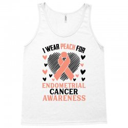 i wear black for endometrial cancer awareness for light Tank Top | Artistshot