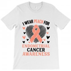 i wear black for endometrial cancer awareness for light T-Shirt | Artistshot