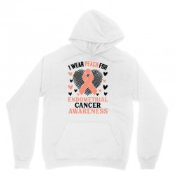 i wear black for endometrial cancer awareness for light Unisex Hoodie | Artistshot