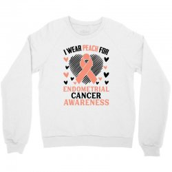 i wear black for endometrial cancer awareness for light Crewneck Sweatshirt | Artistshot