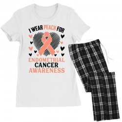 i wear black for endometrial cancer awareness for light Women's Pajamas Set | Artistshot