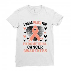 i wear black for endometrial cancer awareness for light Ladies Fitted T-Shirt | Artistshot