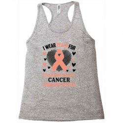 i wear black for endometrial cancer awareness for light Racerback Tank | Artistshot