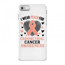 i wear black for endometrial cancer awareness for light iPhone 7 Case | Artistshot