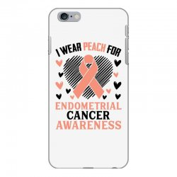 i wear black for endometrial cancer awareness for light iPhone 6 Plus/6s Plus Case | Artistshot