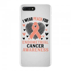 i wear black for endometrial cancer awareness for light iPhone 7 Plus Case | Artistshot