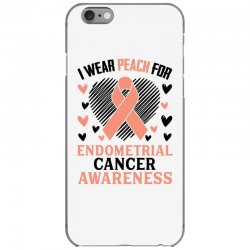 i wear black for endometrial cancer awareness for light iPhone 6/6s Case | Artistshot