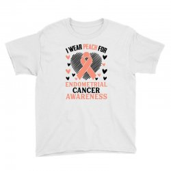 i wear black for endometrial cancer awareness for light Youth Tee | Artistshot