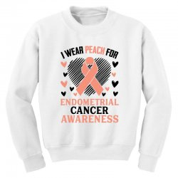 i wear black for endometrial cancer awareness for light Youth Sweatshirt | Artistshot