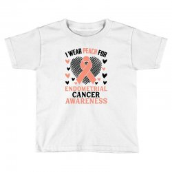 i wear black for endometrial cancer awareness for light Toddler T-shirt | Artistshot