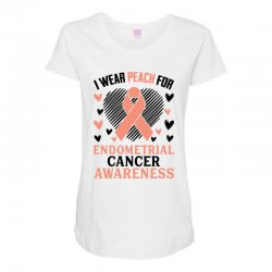i wear black for endometrial cancer awareness for light Maternity Scoop Neck T-shirt | Artistshot