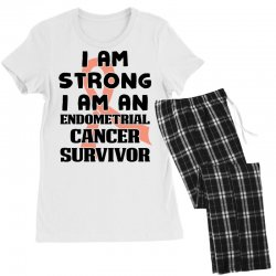 i am strong i am an endometrial cancer survivor for light Women's Pajamas Set | Artistshot