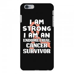 i am strong i am an endometrial cancer survivor for dark iPhone 6 Plus/6s Plus Case | Artistshot