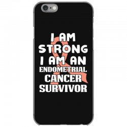 i am strong i am an endometrial cancer survivor for dark iPhone 6/6s Case | Artistshot