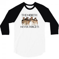 the north never forgets for light 3/4 Sleeve Shirt | Artistshot