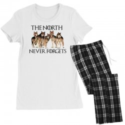 the north never forgets for light Women's Pajamas Set | Artistshot