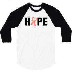 hope endometrial cancer for light 3/4 Sleeve Shirt | Artistshot