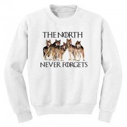the north never forgets for light Youth Sweatshirt | Artistshot