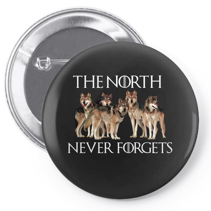 The North Never Forgets For Dark Pin-back Button | Artistshot
