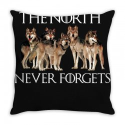 the north never forgets for dark Throw Pillow | Artistshot