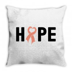 hope endometrial cancer for light Throw Pillow | Artistshot