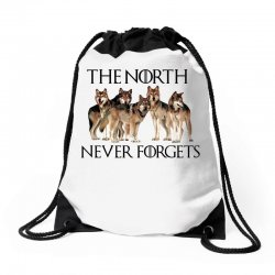 the north never forgets for light Drawstring Bags | Artistshot