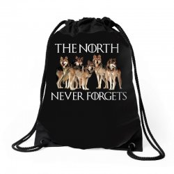 the north never forgets for dark Drawstring Bags | Artistshot