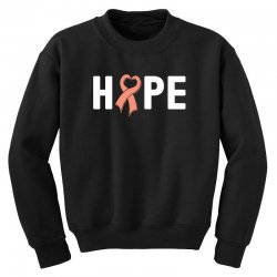 hope endometrial cancer for dark Youth Sweatshirt | Artistshot