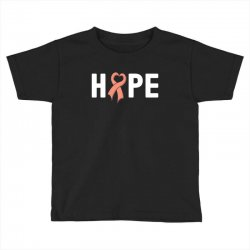 hope endometrial cancer for dark Toddler T-shirt | Artistshot