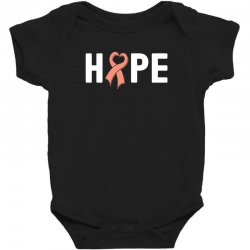 hope endometrial cancer for dark Baby Bodysuit | Artistshot