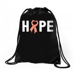 hope endometrial cancer for dark Drawstring Bags | Artistshot