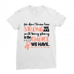 endometrial cancer awareness for light Ladies Fitted T-Shirt | Artistshot
