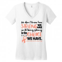 endometrial cancer awareness for light Women's V-Neck T-Shirt | Artistshot