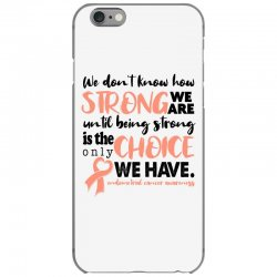 endometrial cancer awareness for light iPhone 6/6s Case | Artistshot