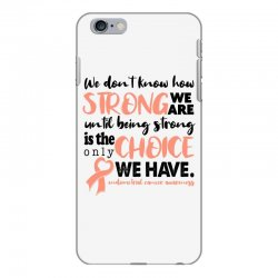 endometrial cancer awareness for light iPhone 6 Plus/6s Plus Case | Artistshot