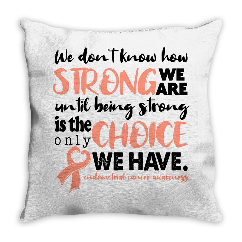 Endometrial Cancer Awareness For Light Throw Pillow | Artistshot