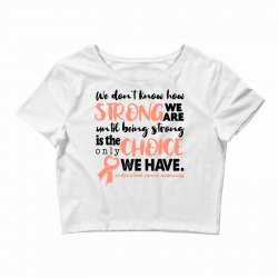 endometrial cancer awareness for light Crop Top | Artistshot