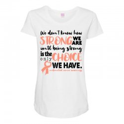 endometrial cancer awareness for light Maternity Scoop Neck T-shirt | Artistshot