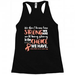 endometrial cancer awareness for dark Racerback Tank | Artistshot