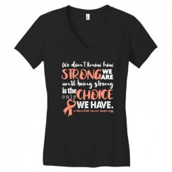 endometrial cancer awareness for dark Women's V-Neck T-Shirt | Artistshot