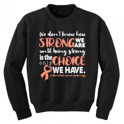 endometrial cancer awareness for dark Youth Sweatshirt | Artistshot