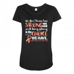 endometrial cancer awareness for dark Maternity Scoop Neck T-shirt | Artistshot