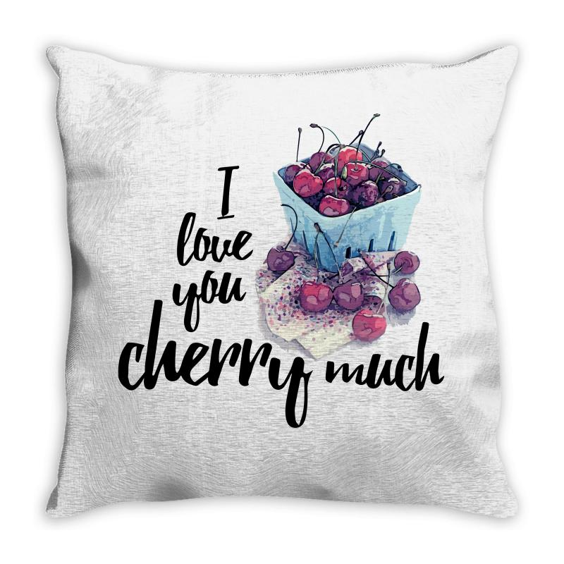 I Love You Cherry Much For Light Throw Pillow | Artistshot