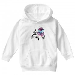 i love you cherry much for light Youth Hoodie | Artistshot