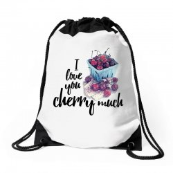 i love you cherry much for light Drawstring Bags | Artistshot
