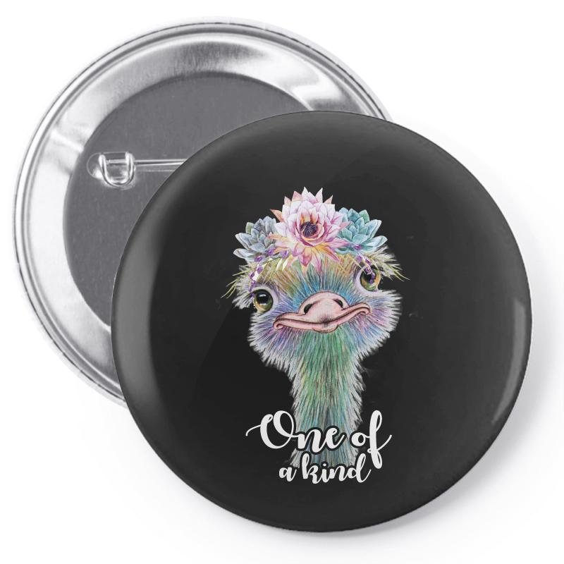 One Of A Kind Ostrich For Dark Pin-back Button | Artistshot