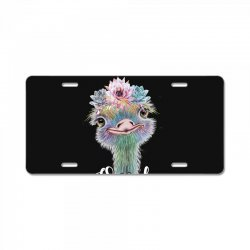 one of a kind ostrich for dark License Plate | Artistshot