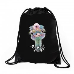 one of a kind ostrich for dark Drawstring Bags | Artistshot
