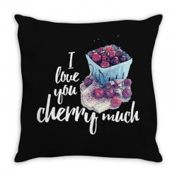 i love you cherry much for dark Throw Pillow | Artistshot