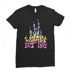 castle characters pastel Ladies Fitted T-Shirt | Artistshot